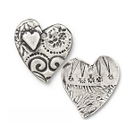 TierraCast Amor Pendant, Antiqued Pewter