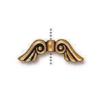 TierraCast Angel Wings Bead, Antique Gold