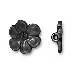TierraCast Apple Blossom Button, Black