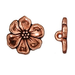 TierraCast Apple Blossom Button, Antique Copper