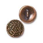 TierraCast Bamboo Button, Antiqued Copper