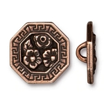 TierraCast Blossom Button, Antique Copper