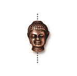 TierraCast Buddha Large Hole Bead, Antique Copper