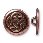 TierraCast Celtic Knot Button, Antiqued Copper