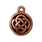 TierraCast Celtic Round Drop, Antique Copper