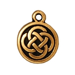 TierraCast Celtic Round Drop, Antique Gold