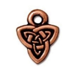 TierraCast Celtic Triad Charm, Antique Copper