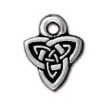 TierraCast Celtic Triad Charm, Antique Silver