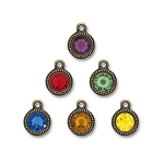 Chakra Mix, Swarovski TierraCast Brass Ox Plated Pewter