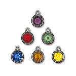 Chakra Mix, Swarovski TierraCast Antiqued Pewter