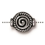 TierraCast Fancy Spiral Bead, Antique Silver