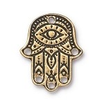 TierraCast Hamsa Hand Link, Antique Gold