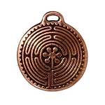 TierraCast Labyrinth Pendant, Double-Sided Antique Copper