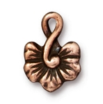 TierraCast Large Blossom Charm, Antique Copper