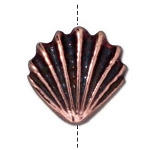 TierraCast Large Shell Bead, Antique Copper