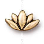 TierraCast Lotus Bead, Antique Gold