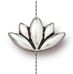 TierraCast Lotus Bead, Antique Silver