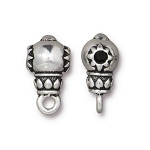 TierraCast Lotus Guru Bead, Antique Silver