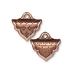 TierraCast Marrakesh Crimp End Caps, Antiqued Copper-Plate, Pkg. of 2