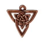 TierraCast Open Triangle Pendant, Antique Copper