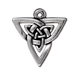 TierraCast Open Triangle Pendant, Antique Silver