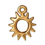 TierraCast Radiant Sun Charm, Bright Gold Plate
