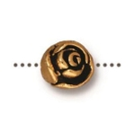 TierraCast Rose Bead, Antique Gold
