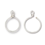 TierraCast Small Charm Keeper Hoop, Silver Plated