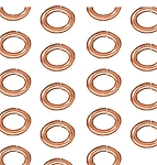 TierraCast Large Oval Jump Rings, Copper Plated