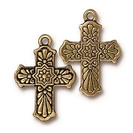TierraCast Talavera Cross Pendant, Antique Gold