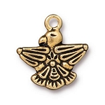 TierraCast Thunderbird Charm, Antique Gold