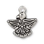 TierraCast Thunderbird Charm, Antique Silver