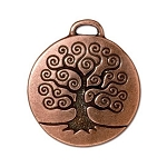 TierraCast Tree of Life Pendant, Double-Sided Antique Copper
