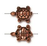 TierraCast Turtle Bead, Antique Copper