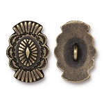 TierraCast Western Button, Brass Ox