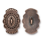 TierraCast Western Button, Antiqued Copper