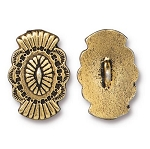TierraCast Western Button, Antique Gold