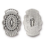 TierraCast Western Button, Antique Silver