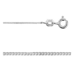 20 Inch Sterling Silver 0.7mm Box Chain