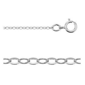 16 Inch Sterling Silver 1.4mm Flat Cable Chain