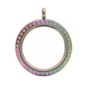 30mm Magnetic Multicolor Stainless Steel Floating Locket