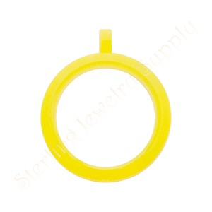 30mm Yellow Acrylic Floating Locket with Matching Metal Ball Chain