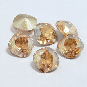 10mm CRYSTAL GOLDEN SHADOW Swarovski Cushion Cut Fancy Stone