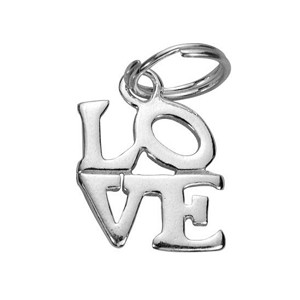 Sterling Silver Love Charm with Split Ring