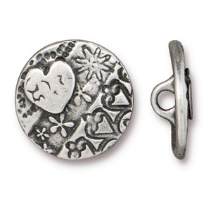 TierraCast AMOR Round Button, Pewter