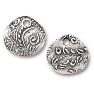 TierraCast Jardin Charm, Antiqued Pewter