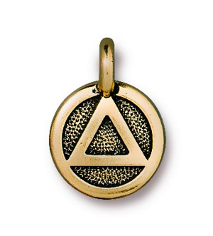 TierraCast Recovery Charm, Antique Gold