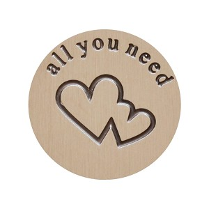 Large Stainless Steel All You Need is Love Backplate