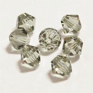 Black Diamond 6mm Swarovski Xilion Bicone, Pkg. of 12