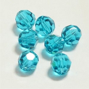 Blue Zircon 4mm Swarovski Faceted Round, Pkg. of 12